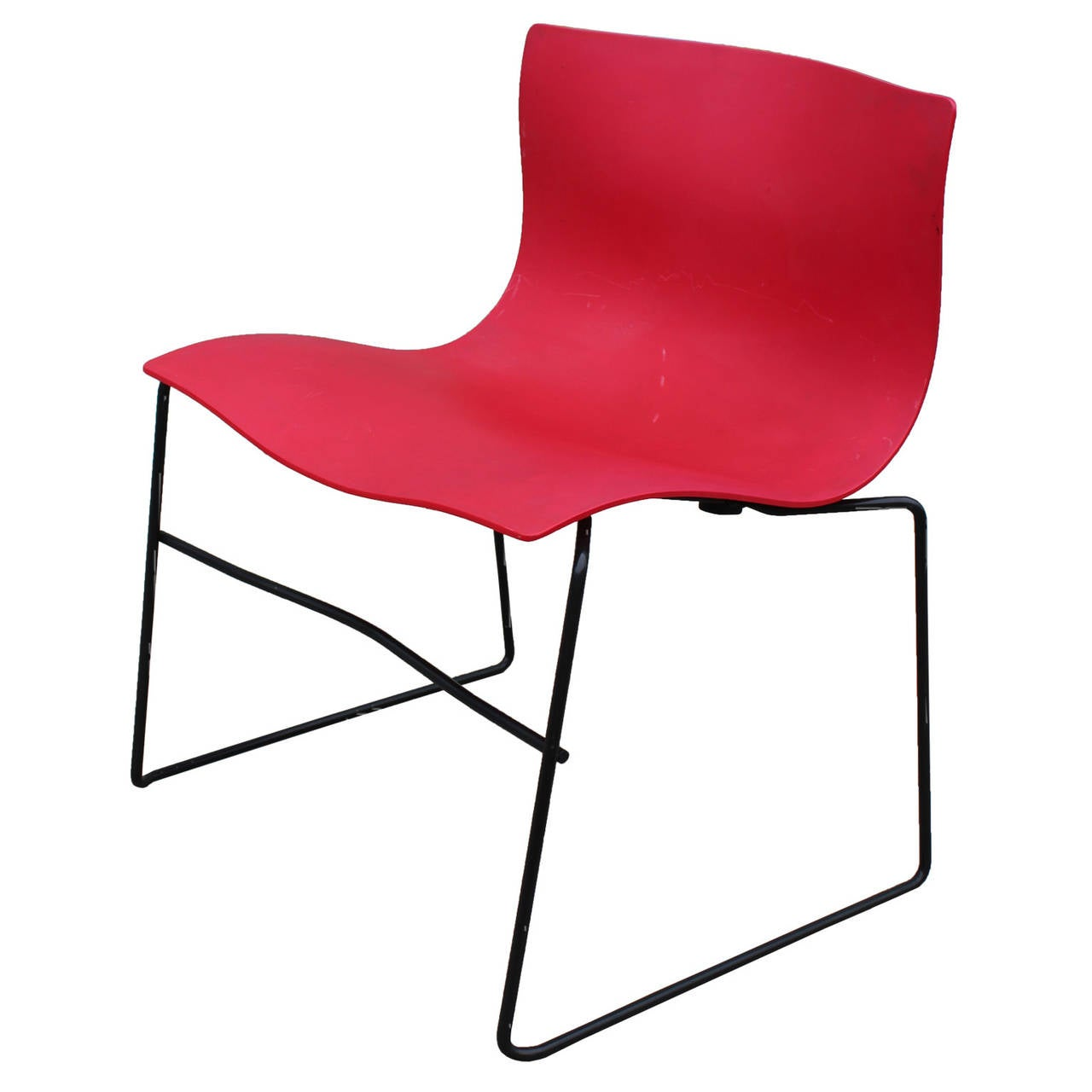Set Of 6 Red Knoll Handkerchief Chairs By Massimo Vignelli At 1stdibs