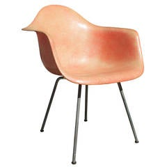 Early Eames Roped Edge Salmon Shell Chair Zenith
