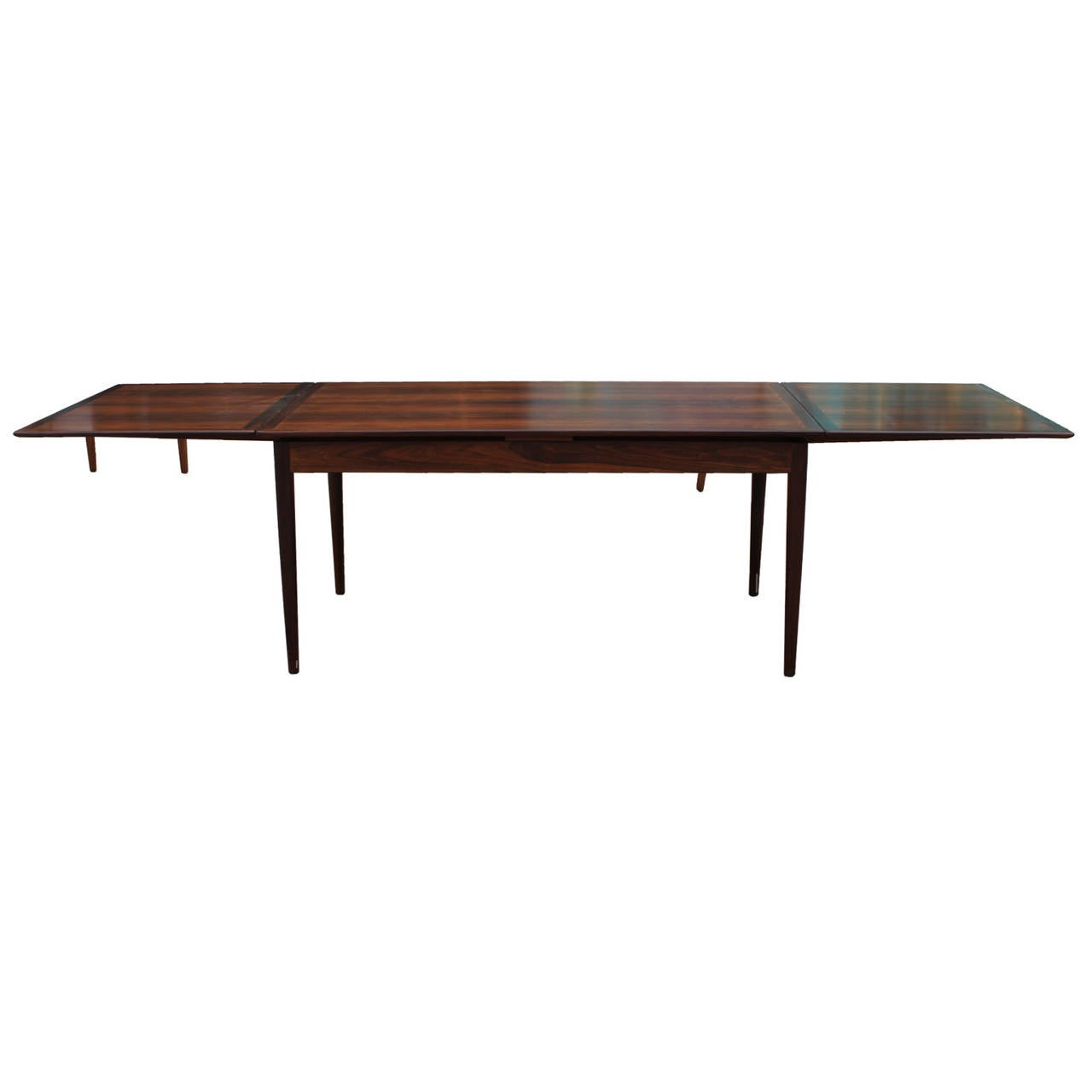 gorgeous danish rosewood extendable dining table moller at
