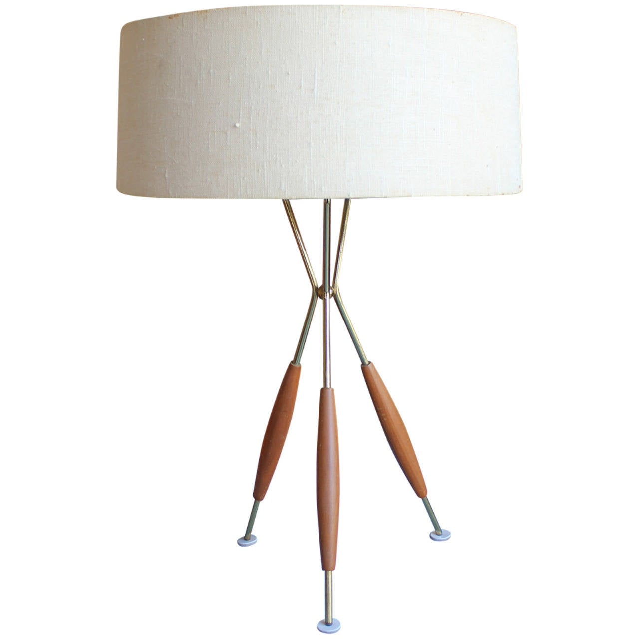 Mid Century Modern Gerald Thurston Tripod Table Lamp 1