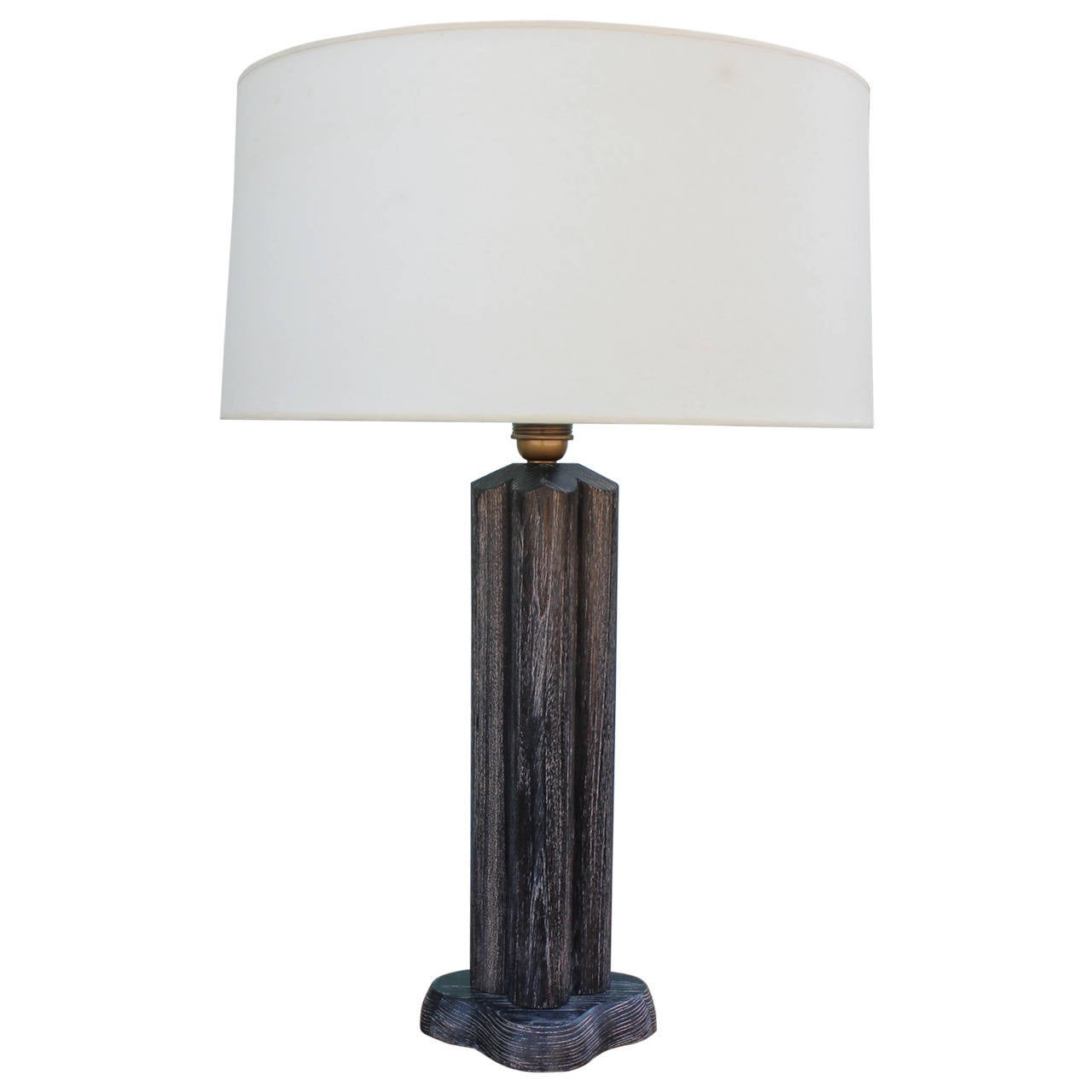 1940s Cerused Oak James Mont Table Lamp