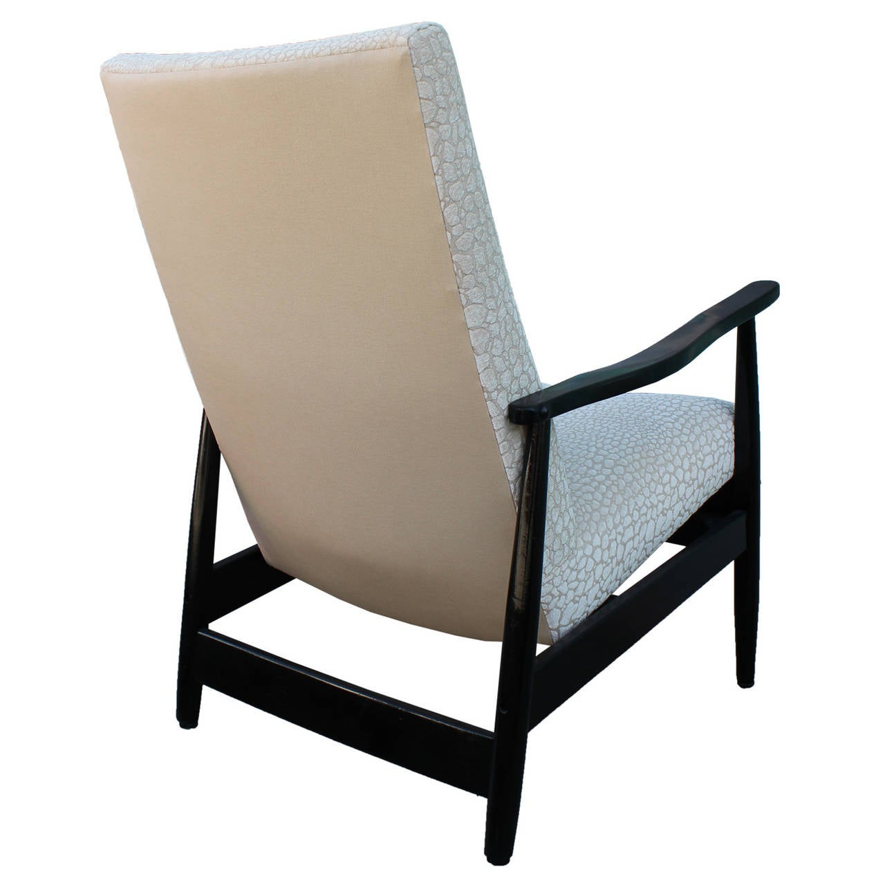 Sleek Pair Of Black Lacquered Armchairs At 1stdibs