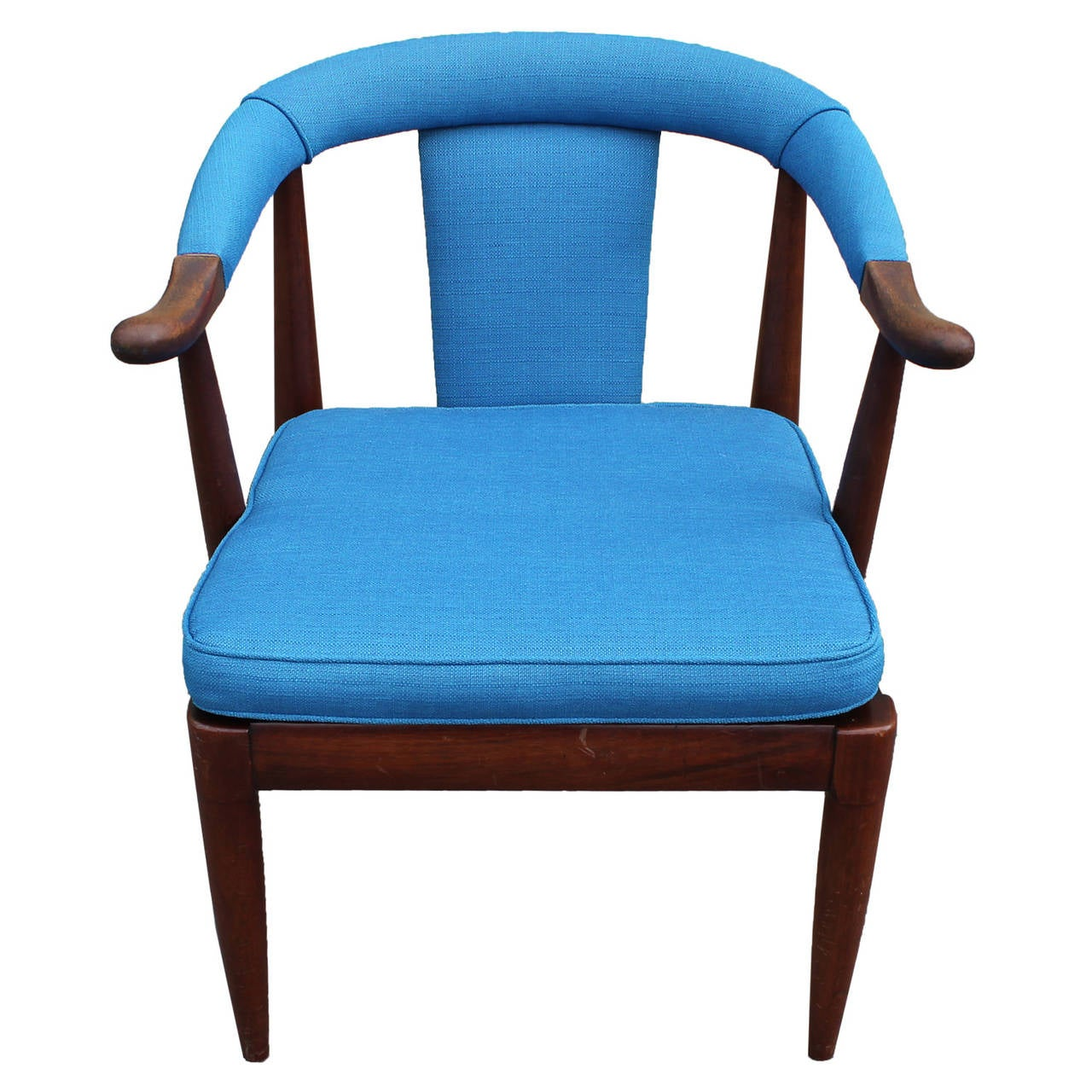 Turquoise horseshoe side chair at 1stdibs