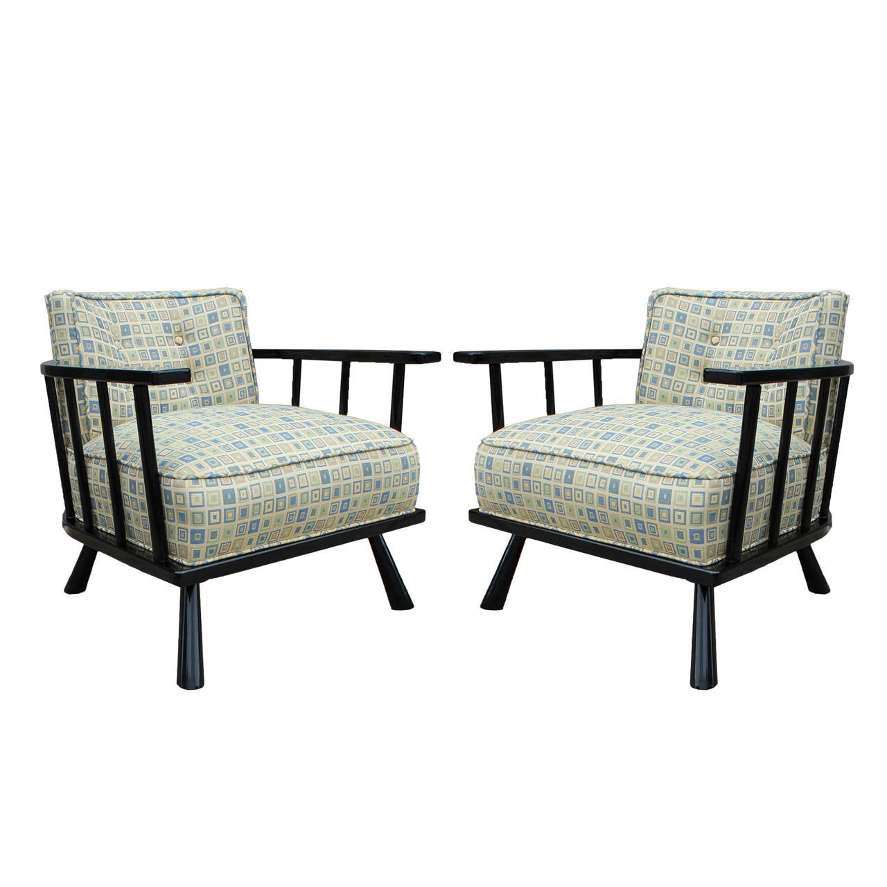 Awesome Pair Of Mid Century Modern Widdicomb Robsjohn Gibbings Chairs For Sale