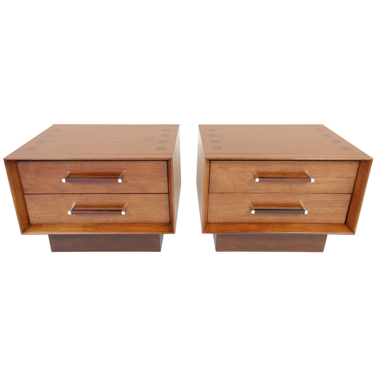 bedroom recessed lighting mid century modern walnut and rosewood nightstands by 10610