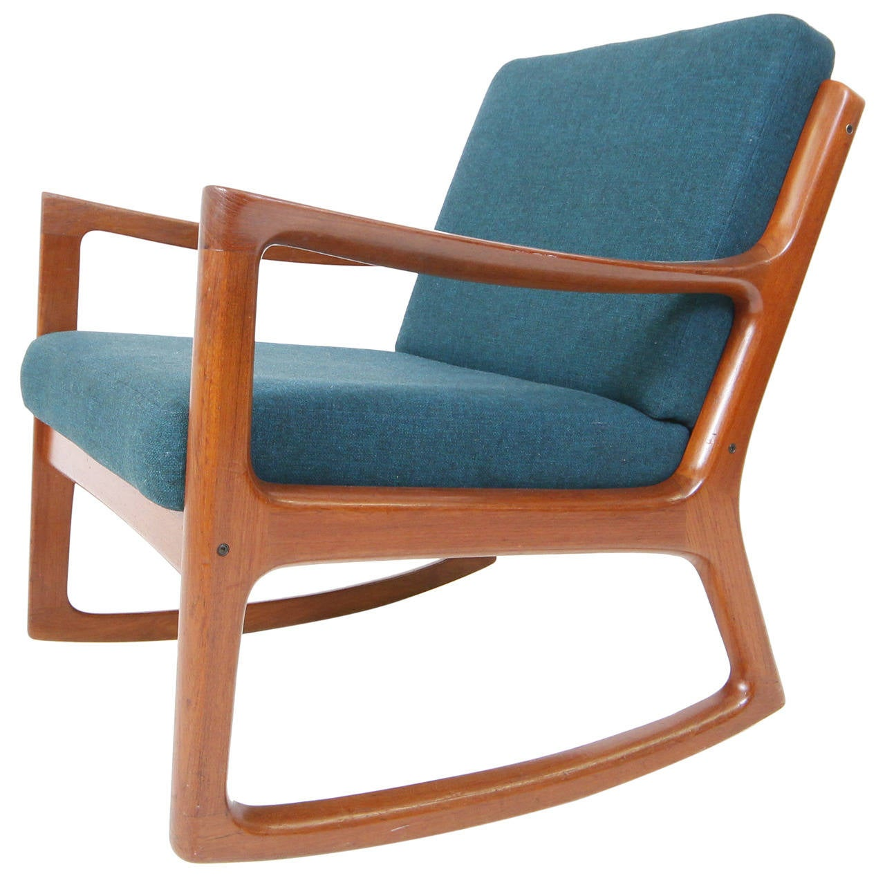 danish modern rocking chair by ole wanscher at 1stdibs. Black Bedroom Furniture Sets. Home Design Ideas