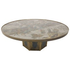 Stunning Bronze Philip and Kelvin LaVerne Cocktail Table
