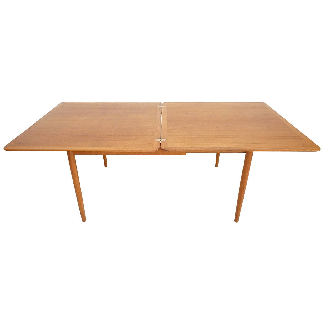 danish modern teak and brass flip top dining table by b rge mogensen at 1stdibs. Black Bedroom Furniture Sets. Home Design Ideas