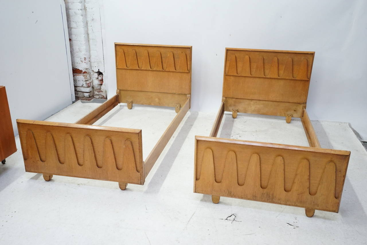 Mid Century Modern Designer King Twin Bed By Karpen At