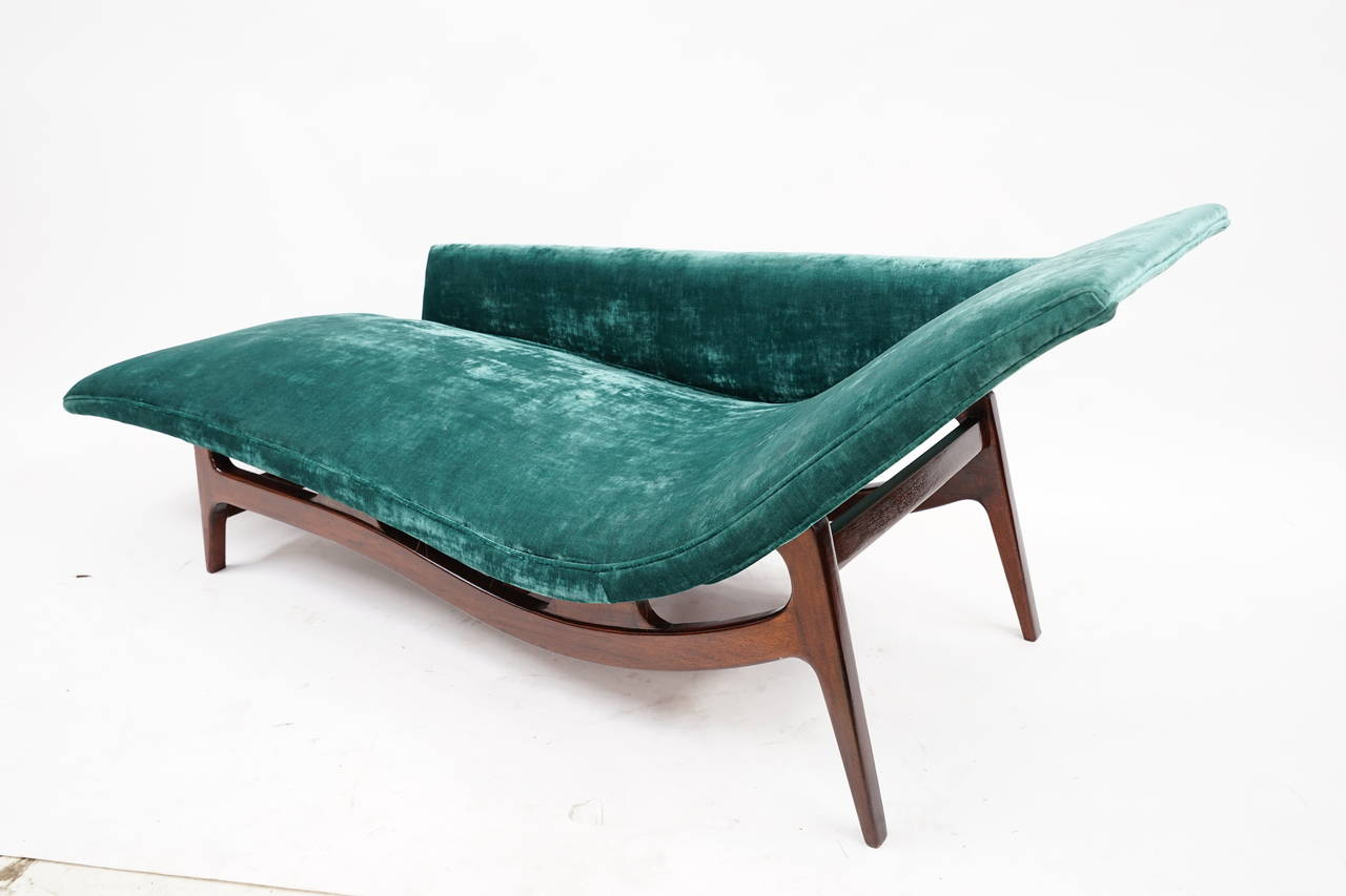 Gorgeous Mid Century Modern Chaise Lounge At 1stdibs