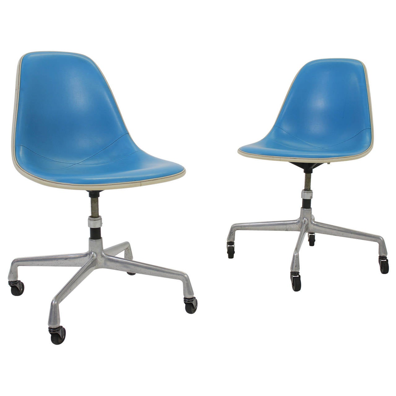 Rare Herman Miller Adjustable Rolling Desk Chairs 1960s