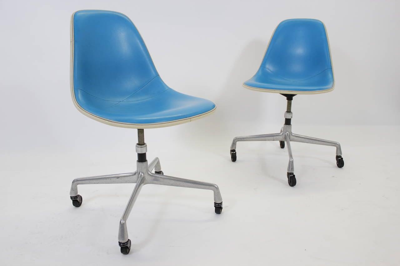 Rare Herman Miller Adjustable Rolling Desk Chairs 1960s