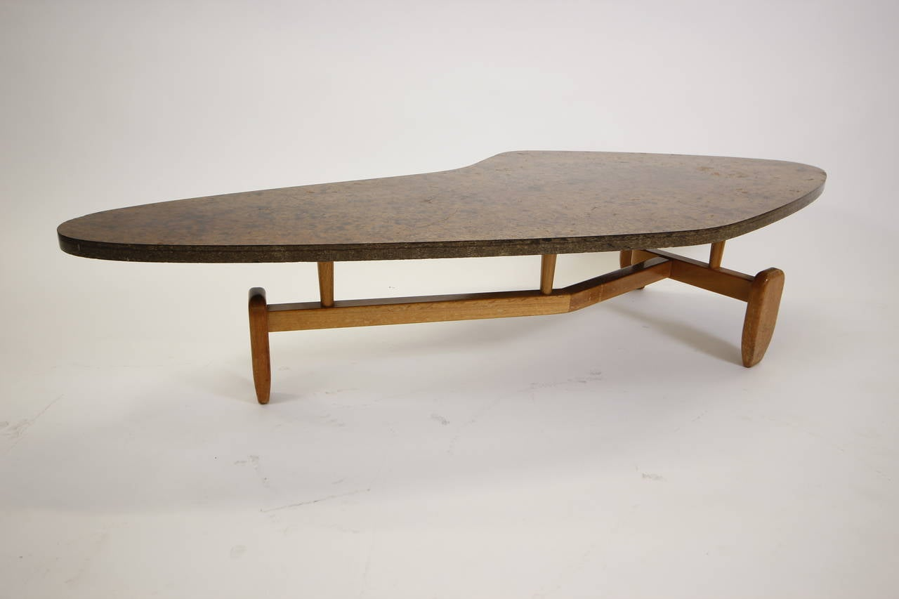 Rare John Keal Floating Boomerang Coffee Table 1952 At