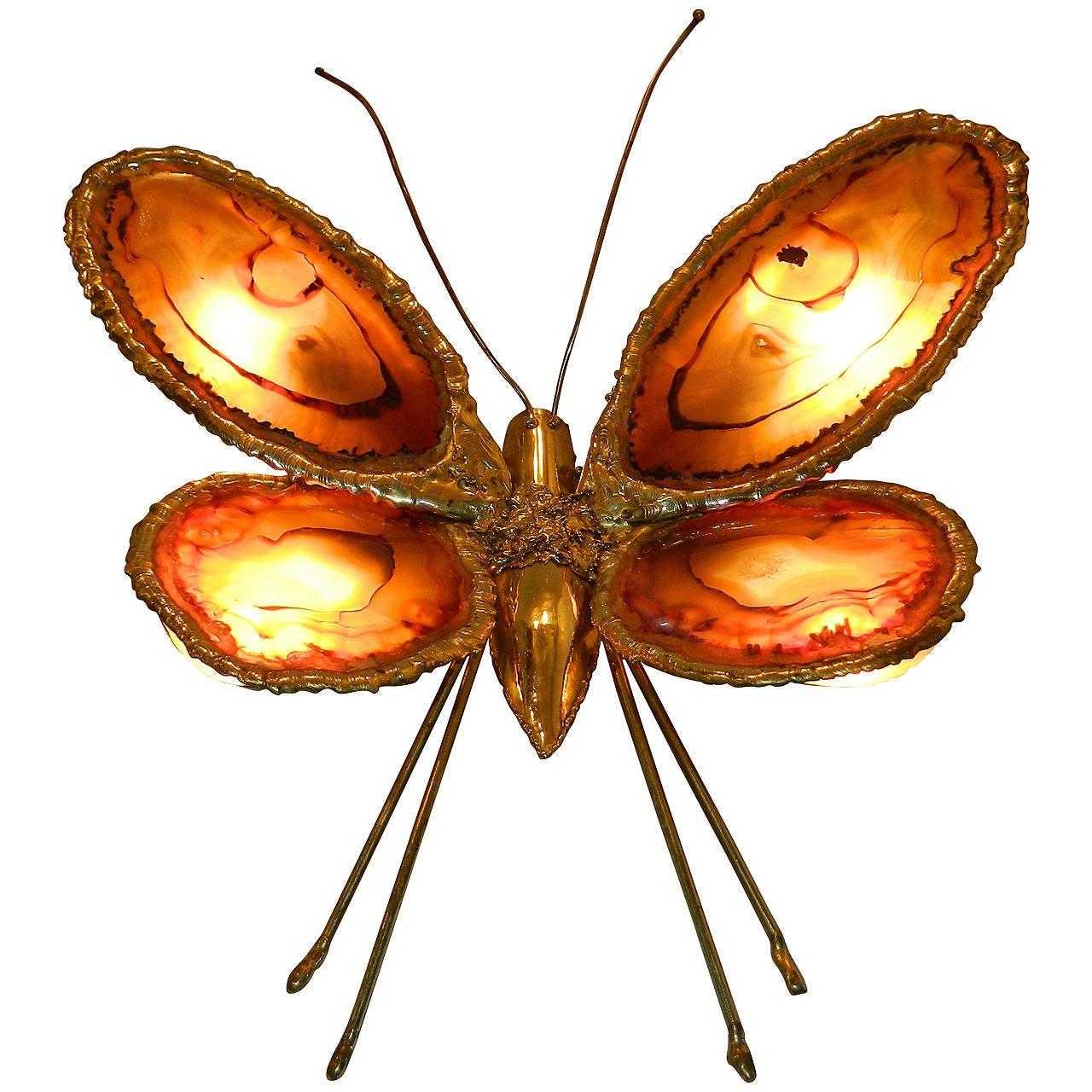 Duval-Brasseur Butterfly Sconce, France