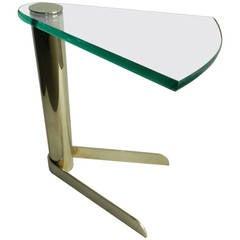 Karl Springer Style Side Sofa Table
