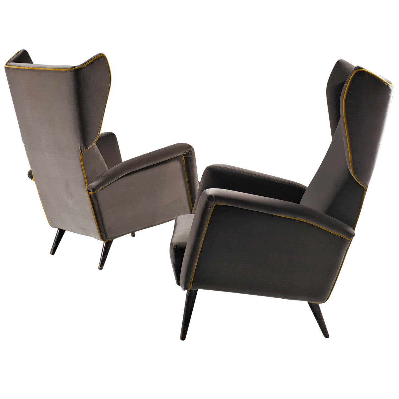 Bergere Armchairs By Gio Ponti At 1stdibs
