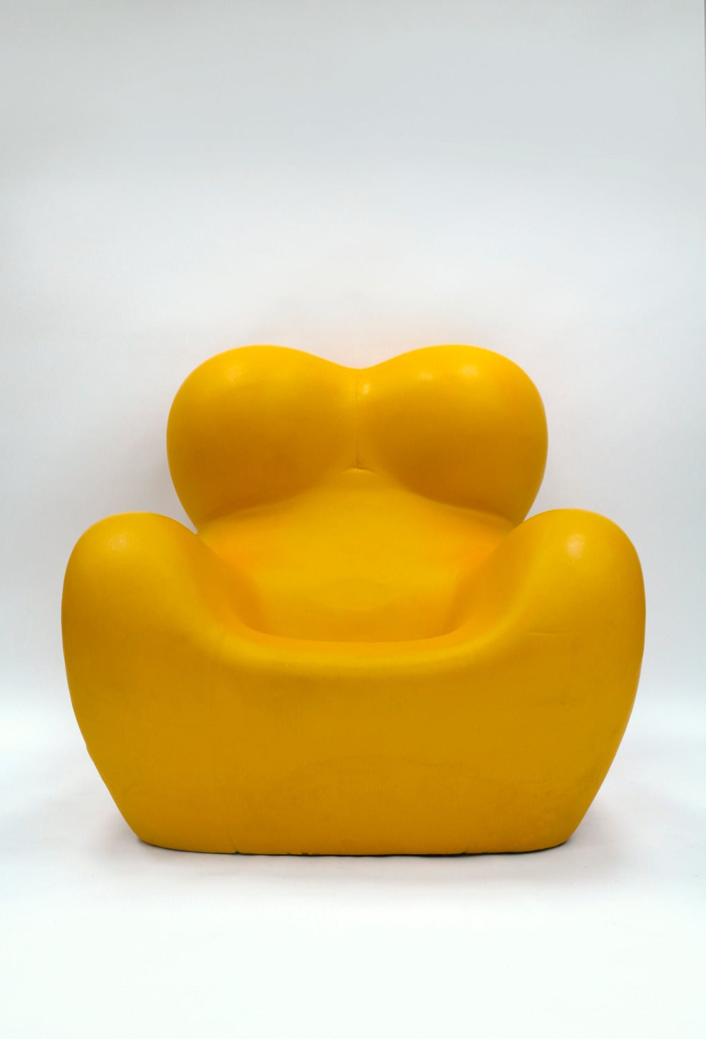 Italian Rare Yellow UP5 6 'Up' Armchair and Ottoman by Gaetano Pesce for B B Italia For Sale