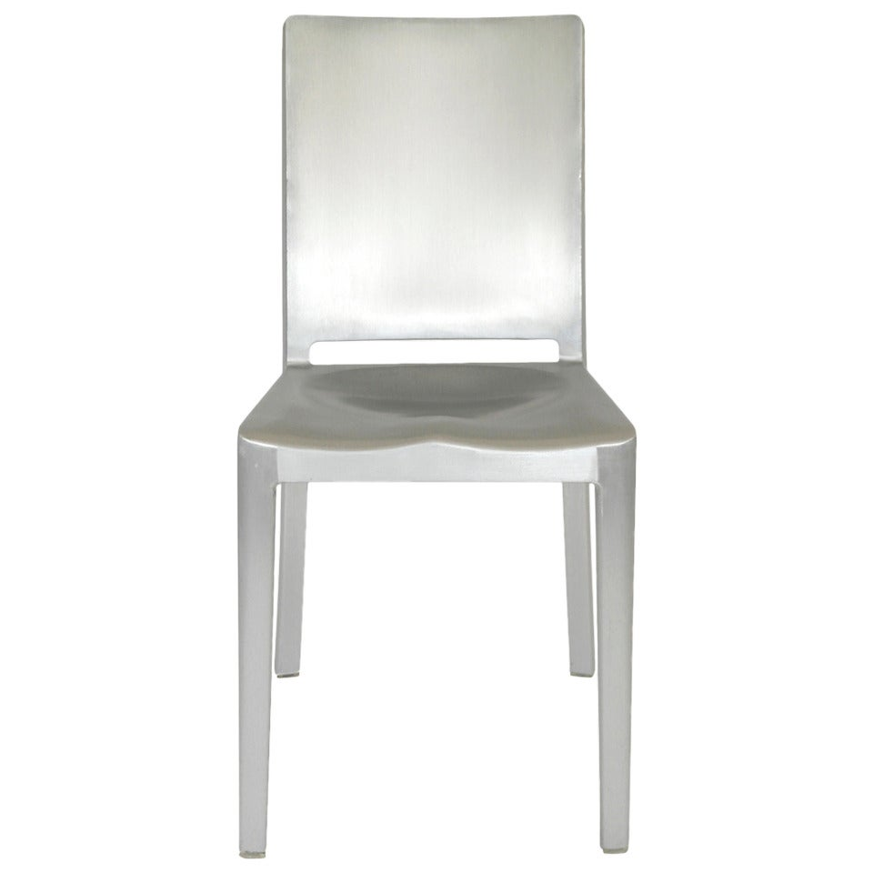 aluminium hudson chair by philippe starck for emeco for. Black Bedroom Furniture Sets. Home Design Ideas
