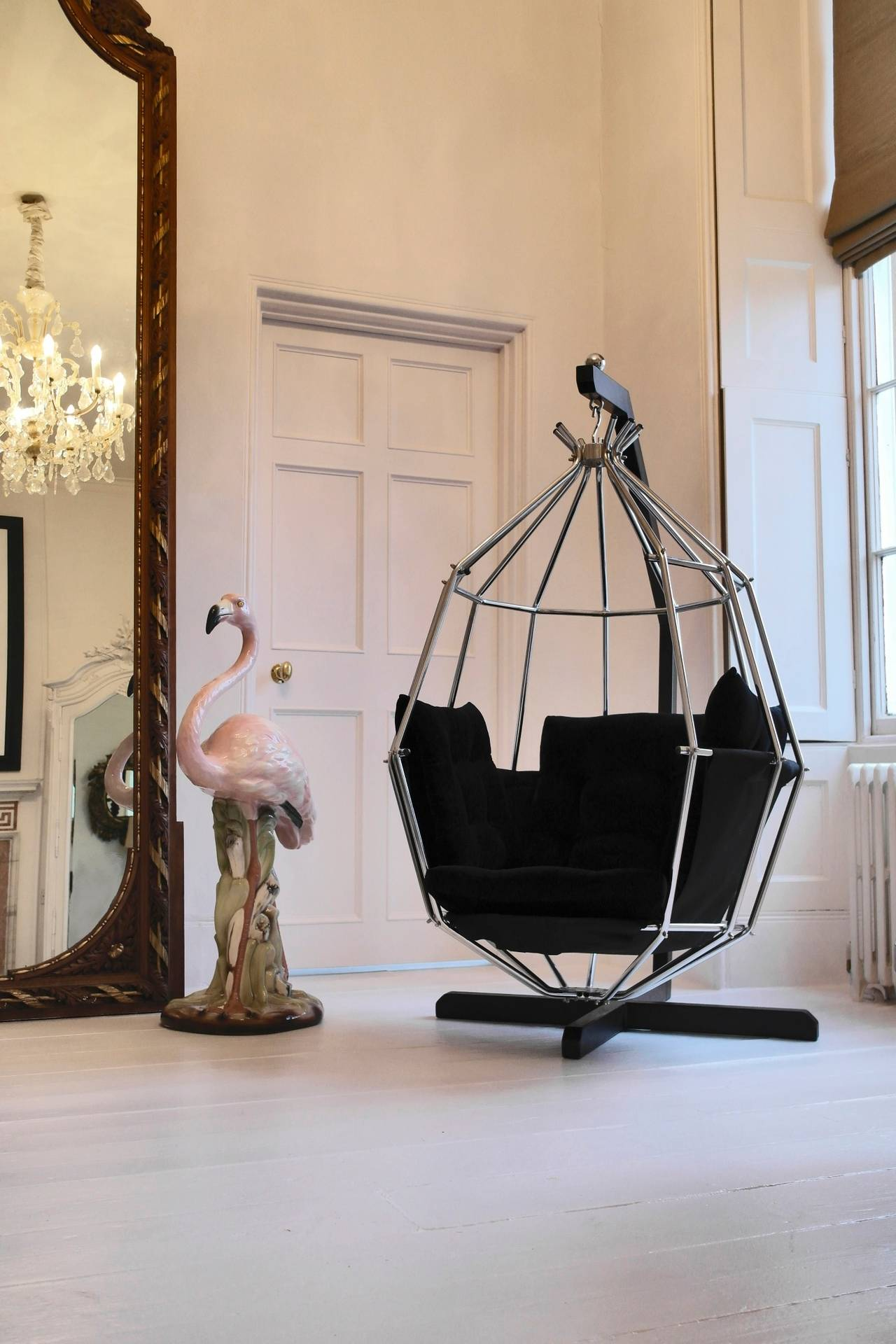 Retro 1970s Hanging Birdcage Chair by Ib Arberg, Arbre Designs Parrot Chair 2