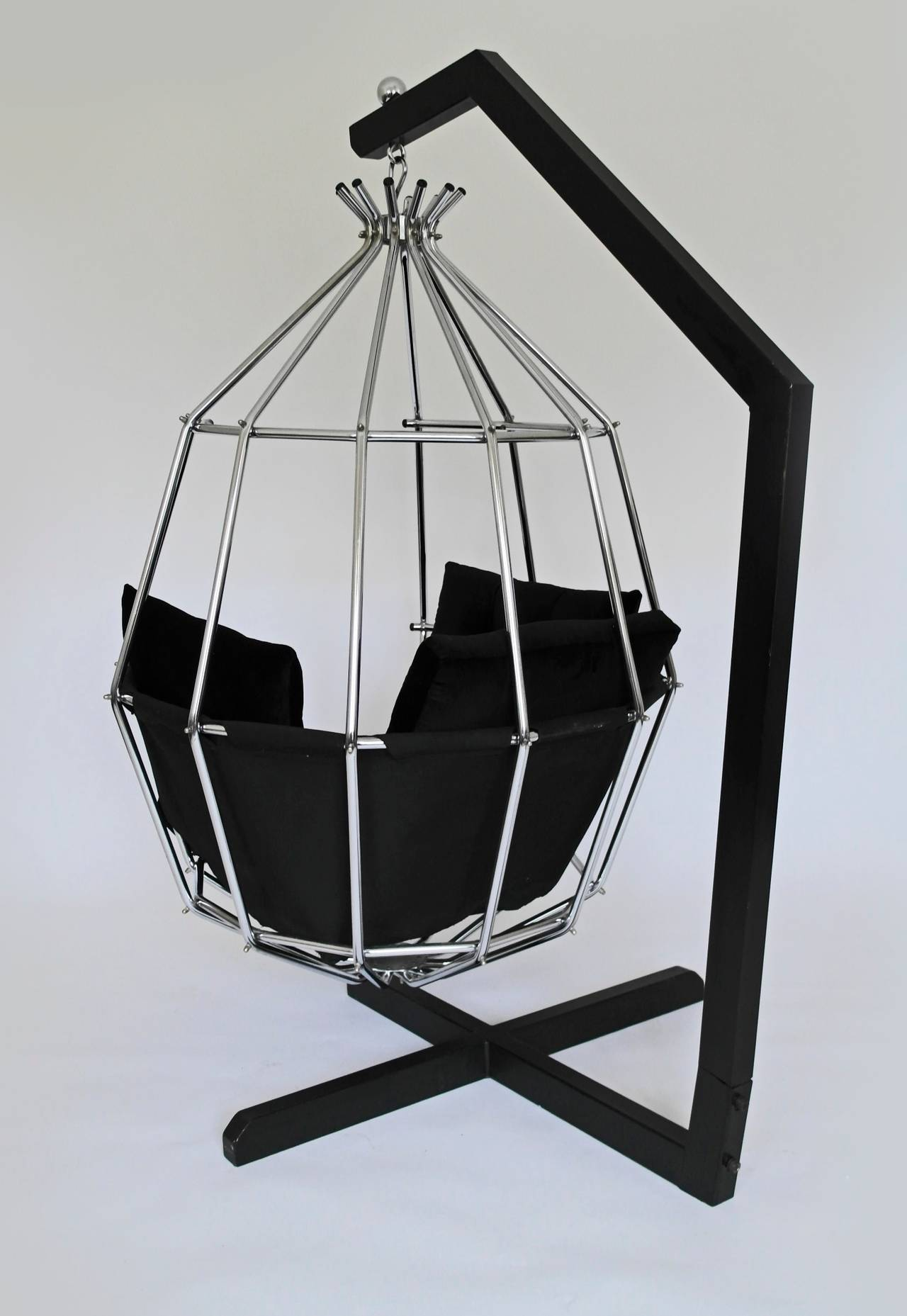 Retro 1970s Hanging Birdcage Chair by Ib Arberg, Arbre Designs Parrot Chair 4