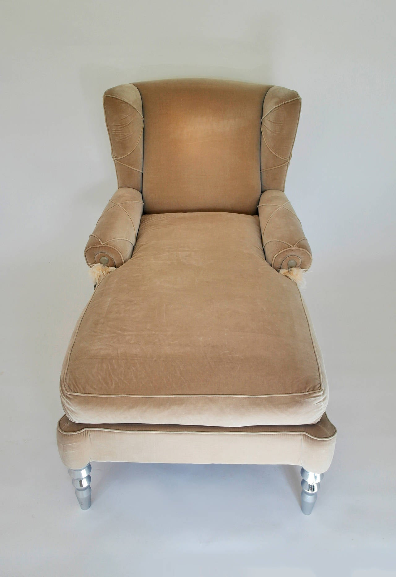 Pair of roberto cavalli chaise day bed wingback chairs for for Chaise furniture sale
