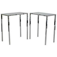 Pair of Philippe Starck Chrome Side Tables