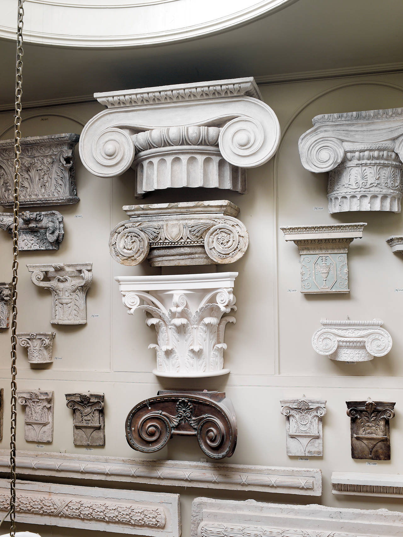 Large Ionic Plaster capital, 20th century. Provenance; almost certainly from the Royal Danish Academy of Fine Arts, Copenhagen. Reputedly cast from a late 18th Century marble capital at the Amelienborg Palace.