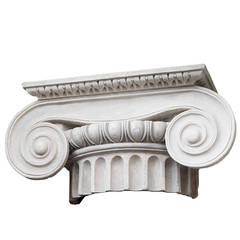 Large Ionic Plaster Capital 20th Century Royal Danish Academy of Fine Arts