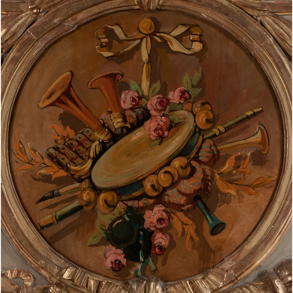 Louis XVI Period Trumeau Mirror For Sale