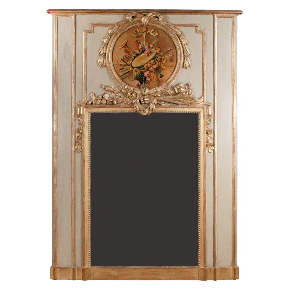 Period Trumeau Mirror For Sale