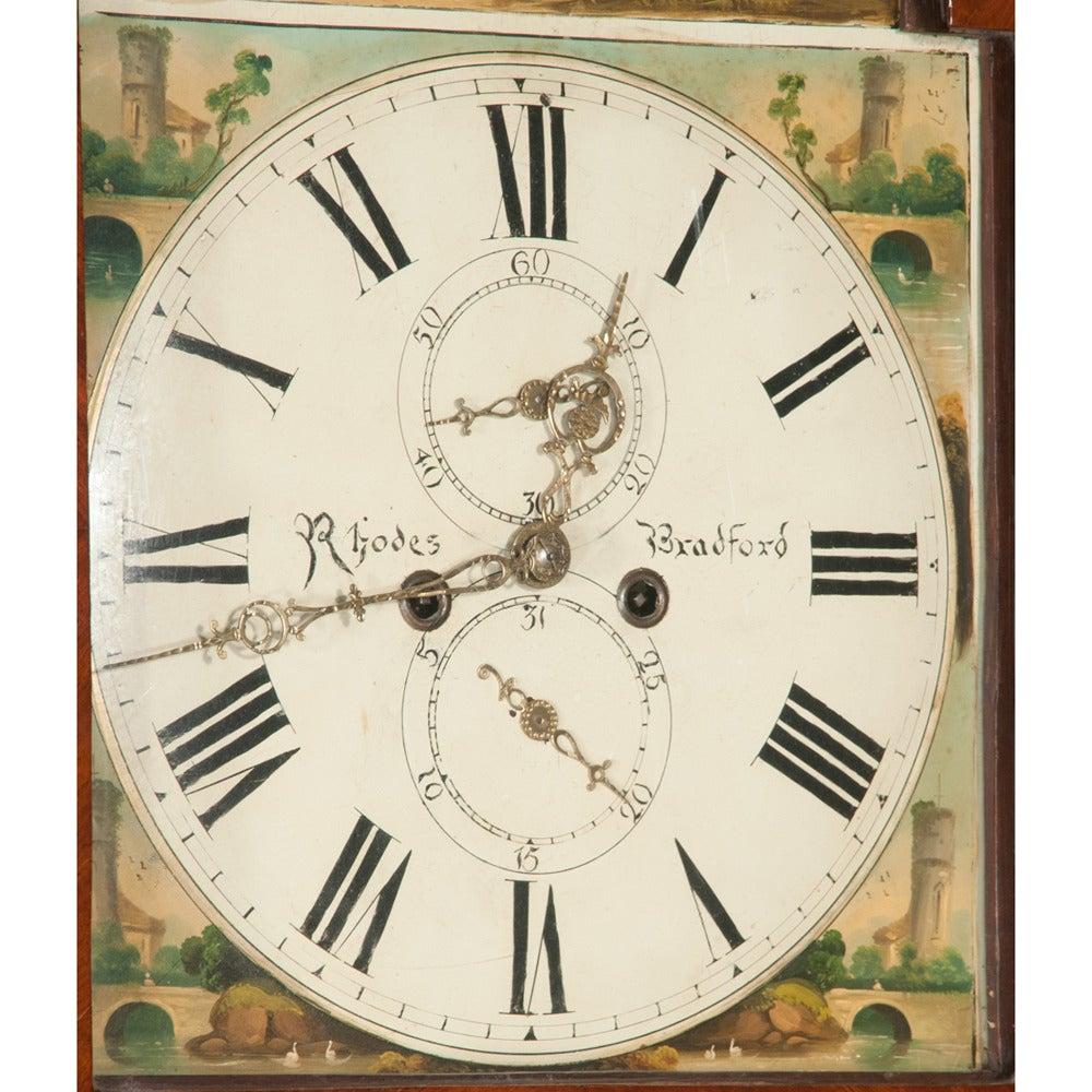 English Sheraton Grandfather Clock