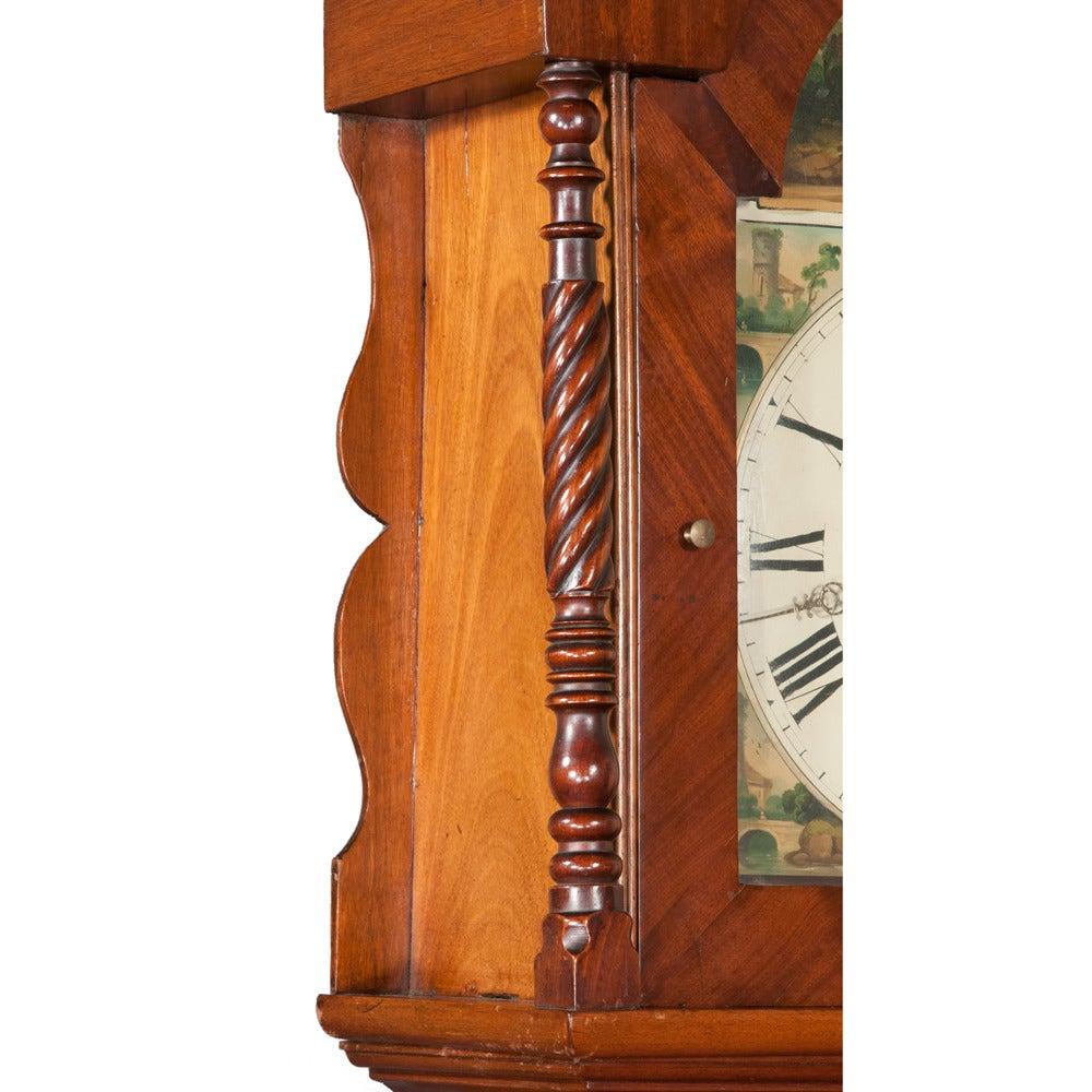 Mid-19th Century Sheraton Grandfather Clock