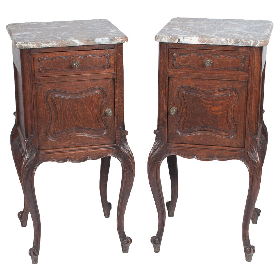Pair of Country French Side Tables For Sale