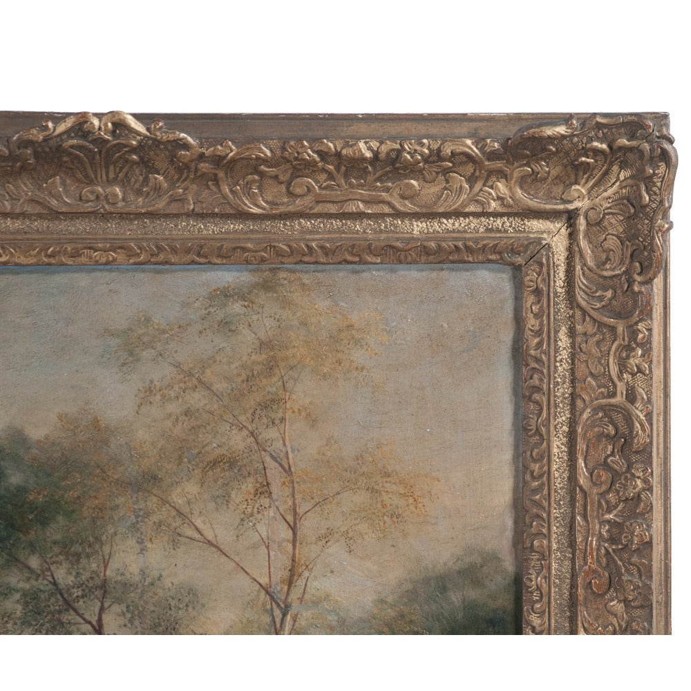 Oil Painting of Pastoral Scene For Sale 1