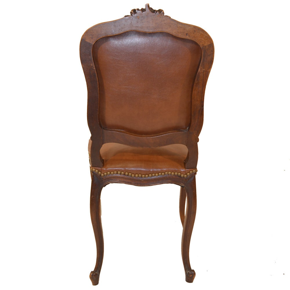 Set of Six French Country Leather Dining Chairs at 1stdibs : LeatherDiningChairs6 1 from 1stdibs.com size 1000 x 1000 jpeg 65kB
