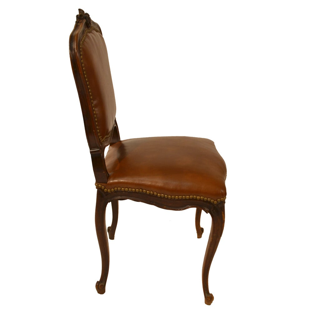 Set of Six French Country Leather Dining Chairs at 1stdibs : LeatherDiningChairs7 1 from www.1stdibs.com size 1000 x 1000 jpeg 43kB