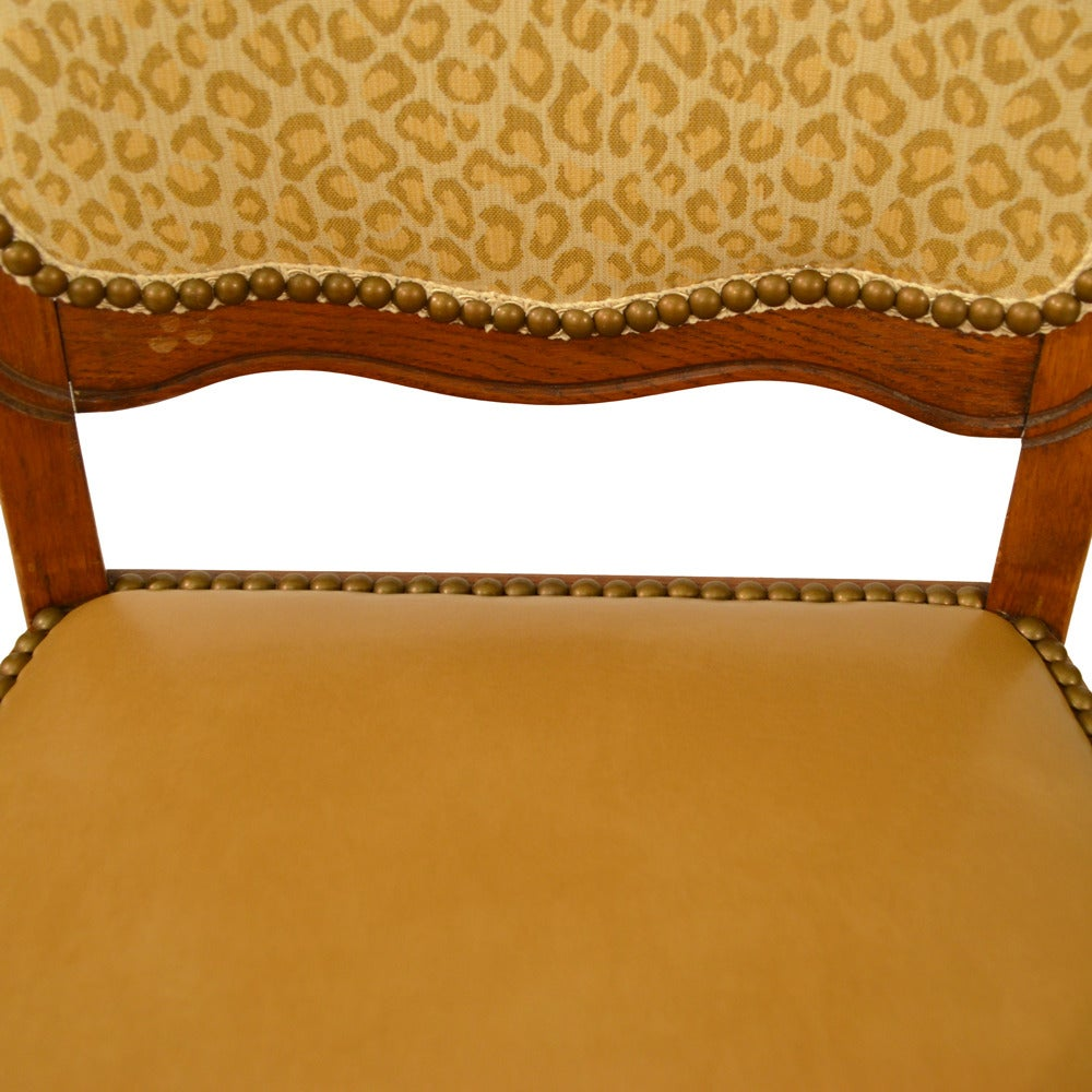 Set of Six Country French Dining Chairs For Sale 2
