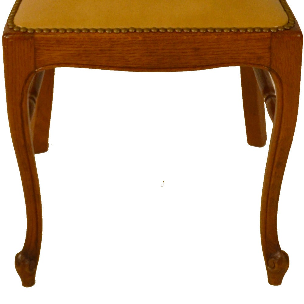Set of Six Country French Dining Chairs For Sale 4