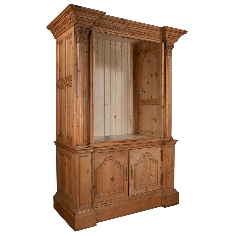 pine armoire or cabinet for sale at 1stdibs