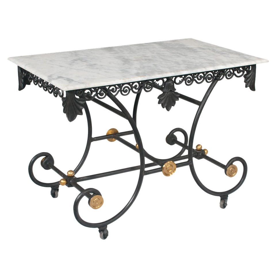 Marble-Top French Pastry Table At 1stdibs