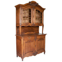 French Country Oak Buffet and Cabinet