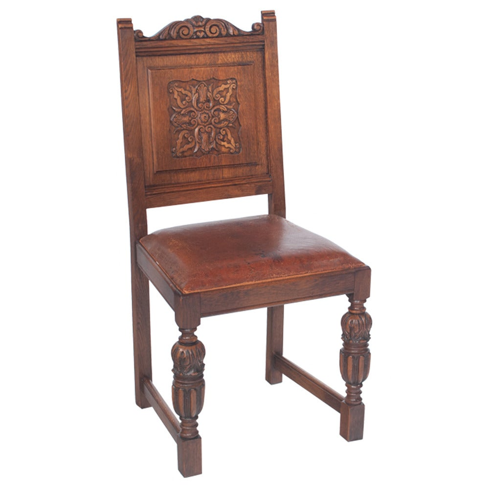 English Pub Chairs Set of Six For Sale at 1stdibs