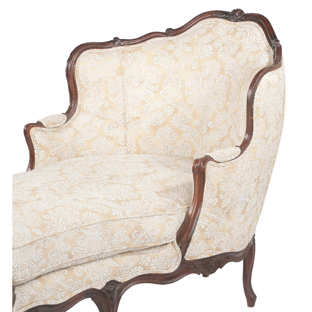 louis xv style chaise at 1stdibs. Black Bedroom Furniture Sets. Home Design Ideas