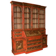 Chinoiserie Lacquered Breakfront