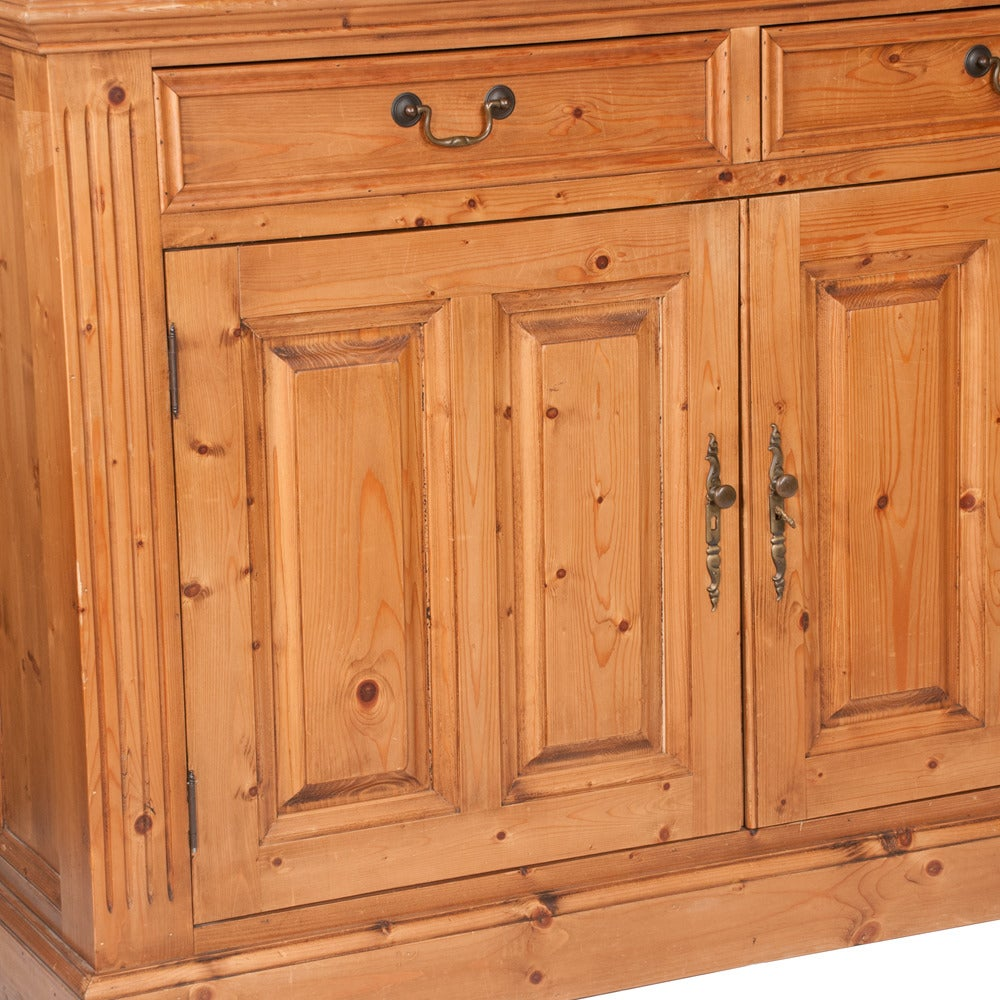 Late 20th Century Pine Linen Press For Sale