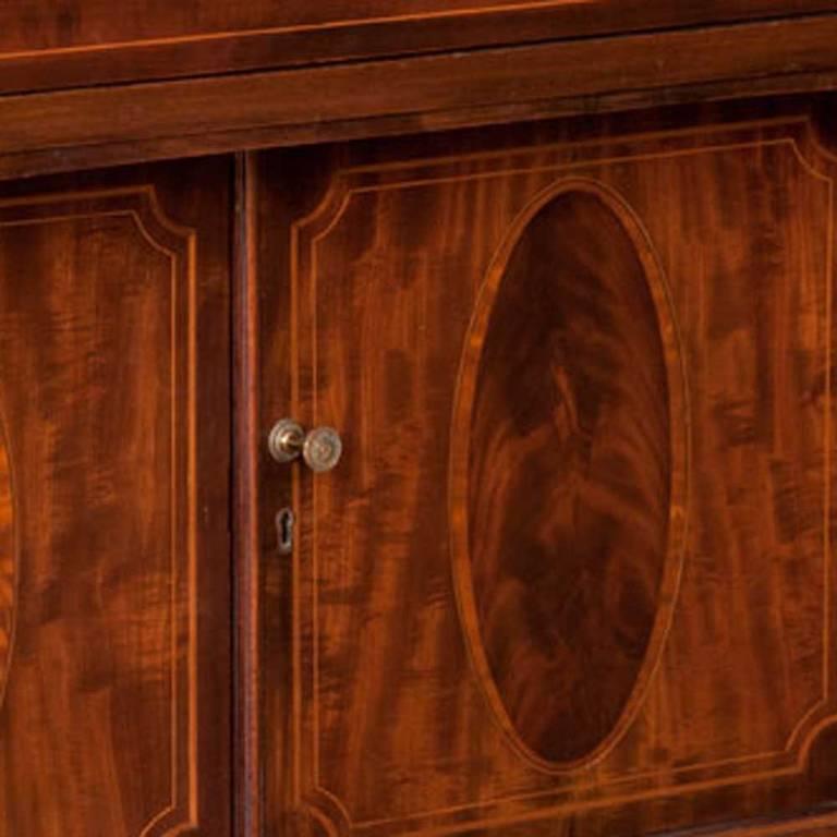 English Sheraton Mahogany Sideboard For Sale