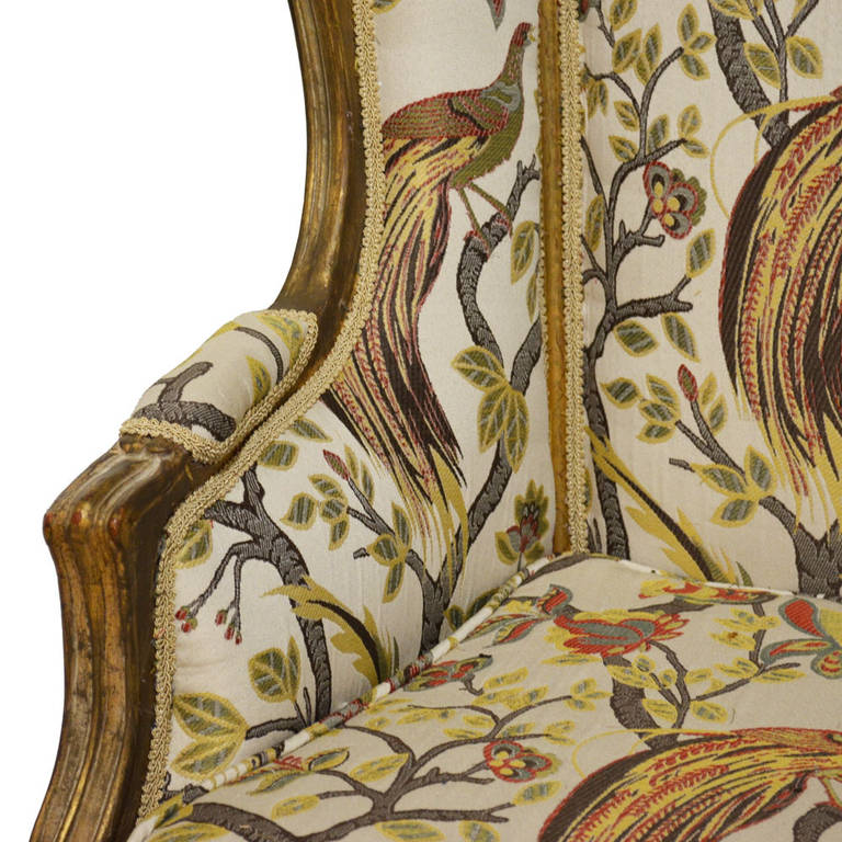 Louis XV Pair of Antique French Bergères For Sale