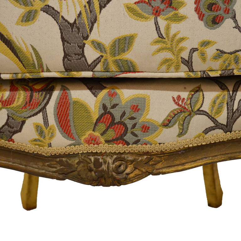 Pair of Antique French Bergères In Good Condition For Sale In Lawrenceburg, TN