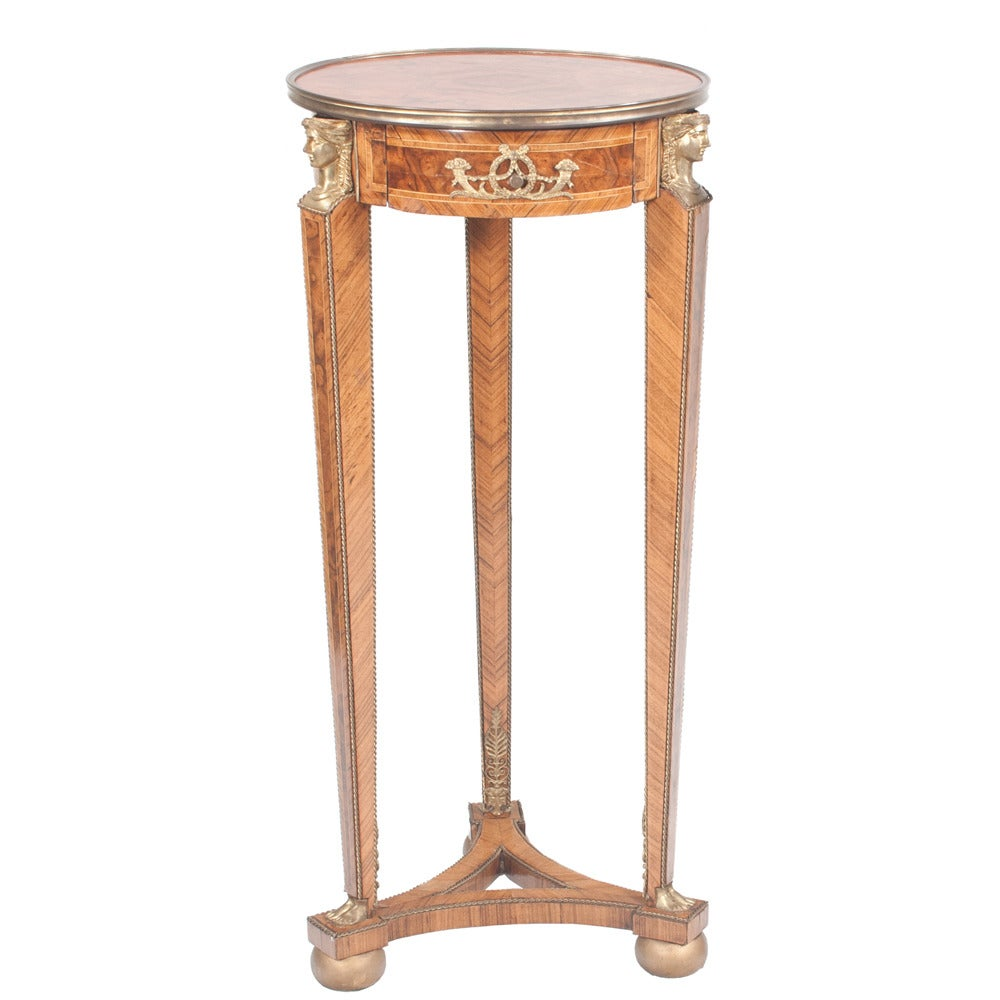 Bronze French Empire-style Pedestals, Pair For Sale