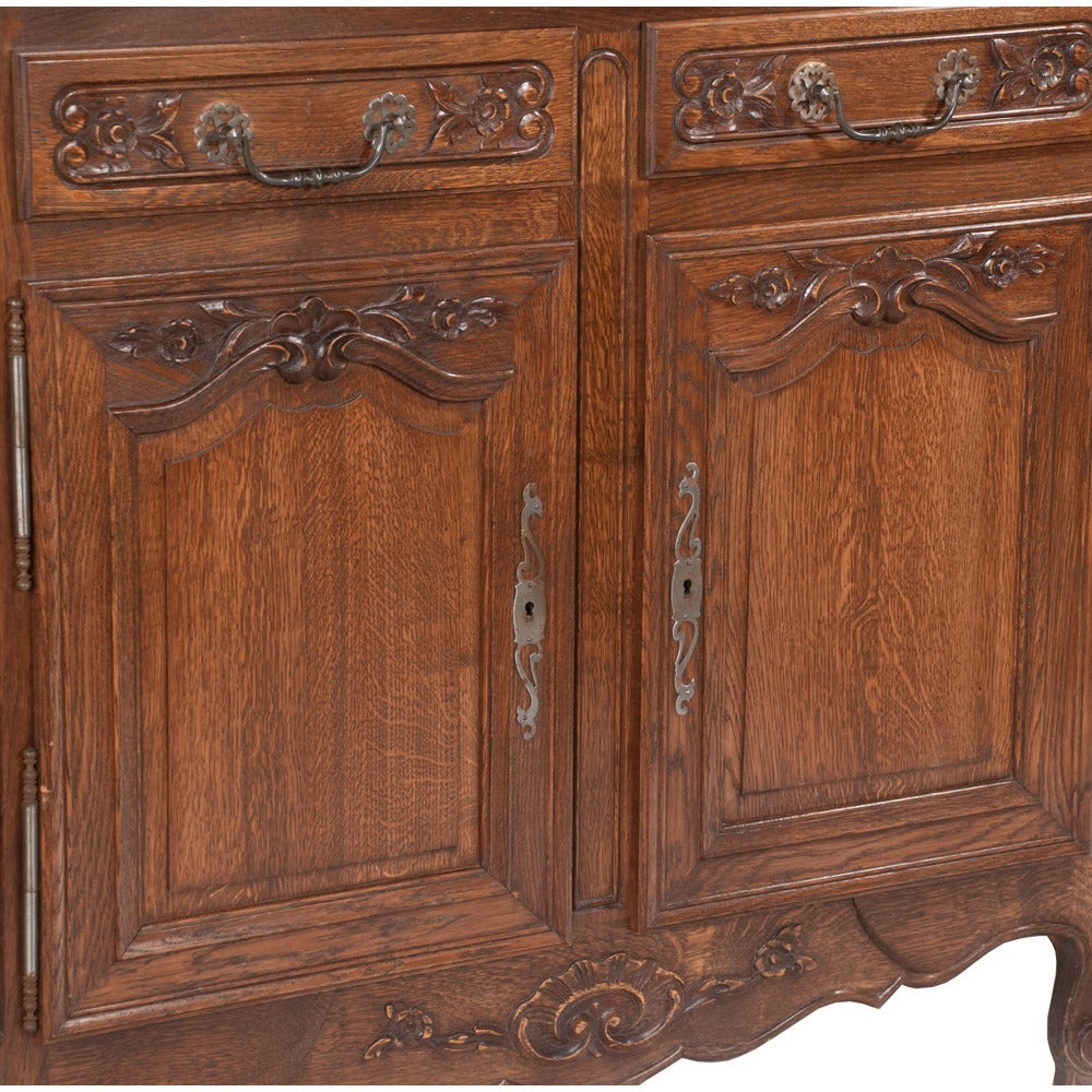 Early 20th Century Country French Oak Buffet For Sale